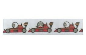 0 SR1216 12mm Racing Car Grosgrain Ribbon - 20m