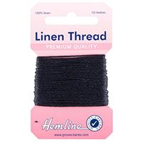 H1001\05 Linen Thread: 10m - Navy