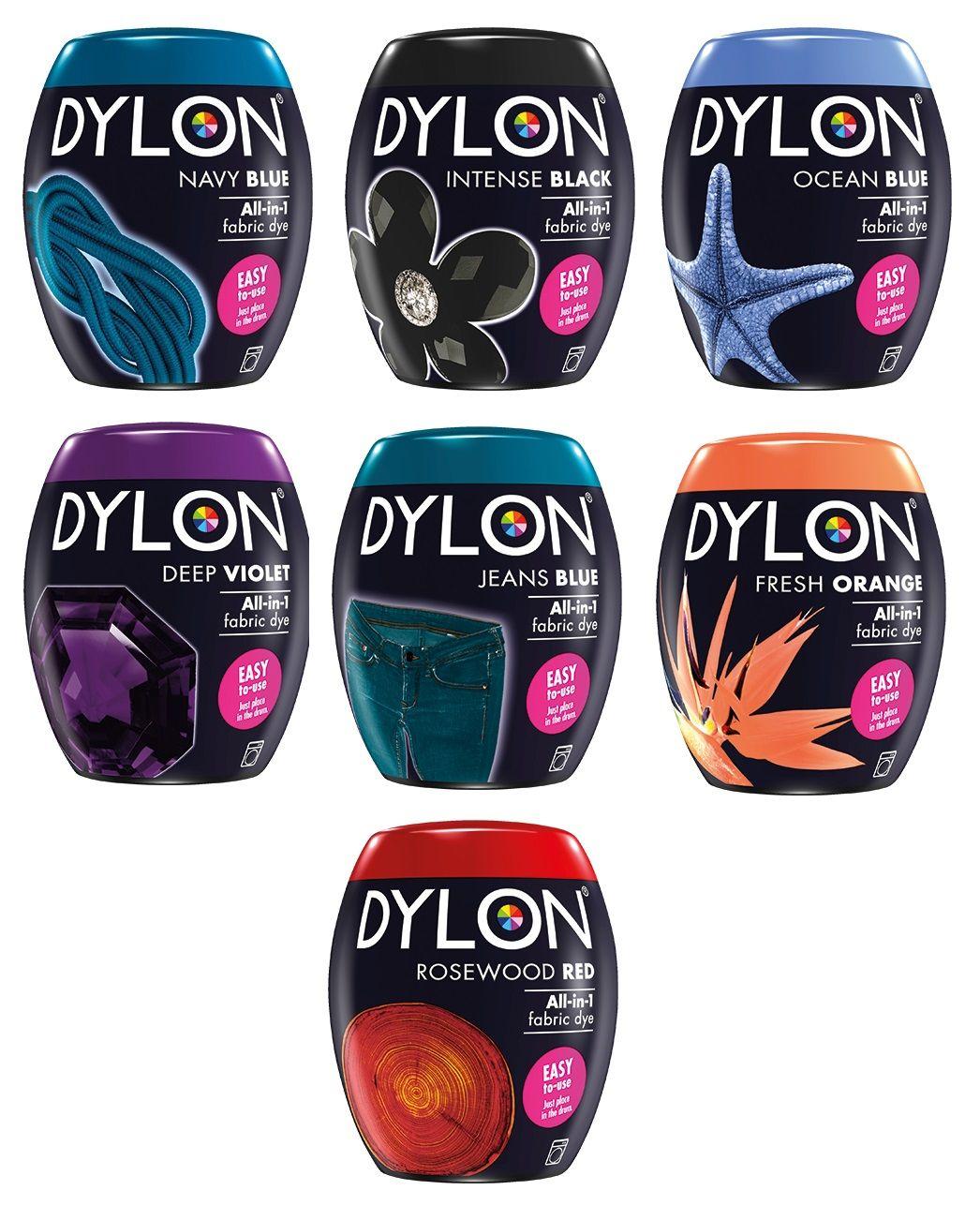 A00129 Dylon Fabric Dye Pods for Washing Machine - Full ...