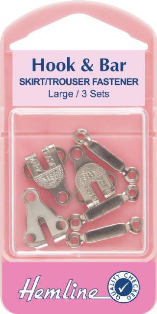 Hemline Large  hook and bar set H430.L trouser or skirt fastener