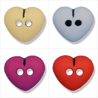0G4215 2-Hole Heart Button - 20 lignes/12mm